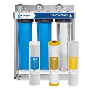 Express Water Heavy Metal Whole House Water Filter - 3 Stage Home Water Filtration System