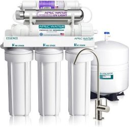 APEC water filter with Top Tier Alkaline Mineral and Ultra-Violet UV Sterilizer