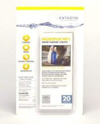 Katadyn water cleaning tablets