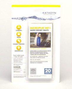 Katadyn water purifying tablets