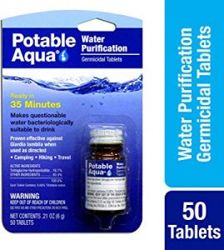 Potable Aqua water cleaning tablets
