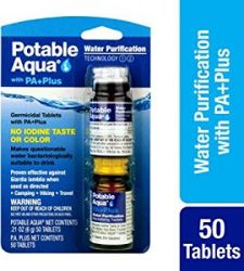 Aqua Water cleaning tablets with PA Plus