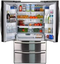 SMETA french door medium sized refrigerator
