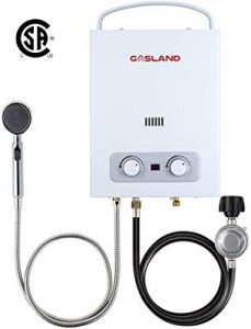 Tankless portable water heater