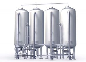 Activated carbon filtration system for well water