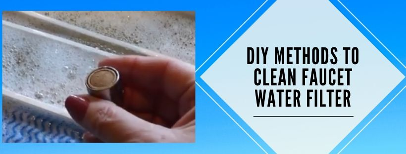 Faucet water filter cleaning