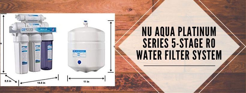 NU Aqua Platinum Reverse Osmosis water filter