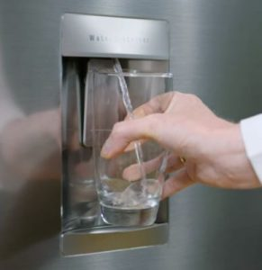 Easy to use refrigerator water filter