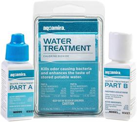 Aquamira water filter for chemical treatment