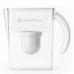 Clearly-Filtered Pitcher with 100 Gallons water filtration