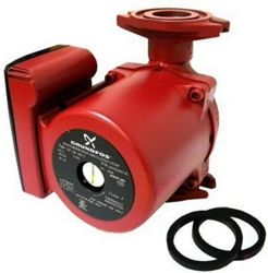 Grundfos recirculating pump with automatic sensor system