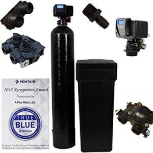 Fleck water softener with digital meter